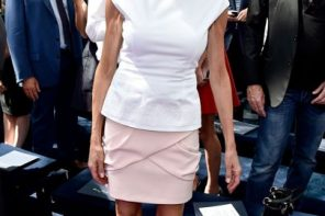 How much do we actually avoid acting our age? Is the first lady of France an example for ''don't''?